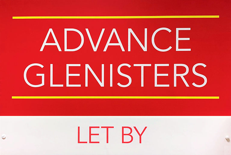 Advance Glenisters Estate Agency Letting Board